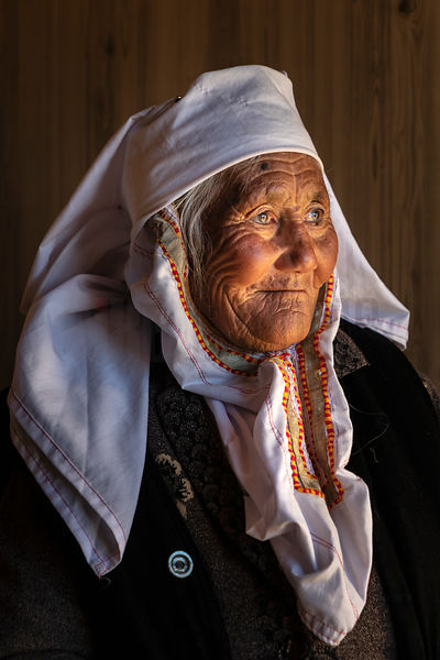 Portrait of Kulbarkhan (86), Mother of Bekysh
