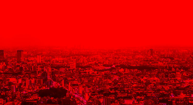 TokyoSkylineRed