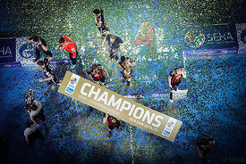 Champions during the Final Tournament - Final Four - SEHA - Gazprom league, Gold Medal Match Vardar - Telekom Veszprém, Belarus, 09.04.2017, Mandatory Credit ©SEHA/ Stanko Gruden..