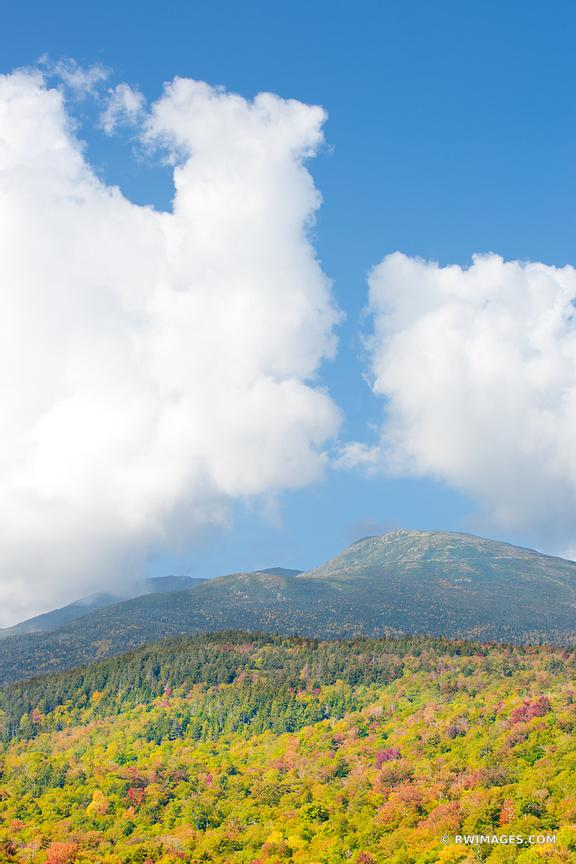 MOUNT WASHINGTON WHITE MOUNTAINS NEW HAMPSHIRE FALL COLORS VERTICAL IMAGE