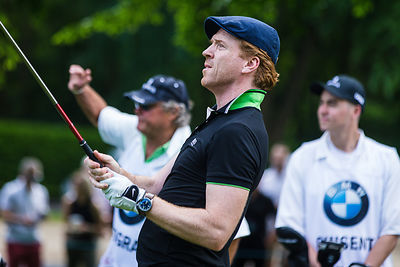 Wentworth England 25th May 2017 Actor Damian Lewis star of Homeland and Wolf Hall playing in the Annual Pro Am at Wentworth Golf Course