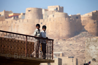Boys in Jaisalmer, Rajasthan, India