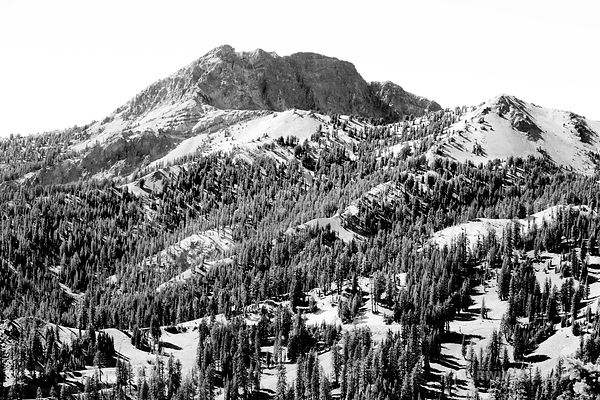 LASSEN VOLCANIC NATIONAL PARK CALIFORNIA BLACK AND WHITE