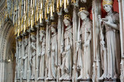 Statues of Kings inside York Minster, a medieval cathedral in Yorkshire, UK