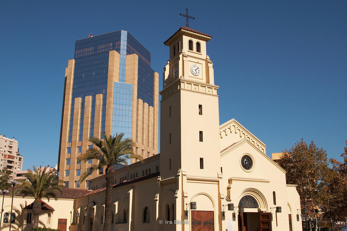 A Catholic church in Santiago, Chile.