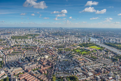 Aerial view of Chelsea, West London