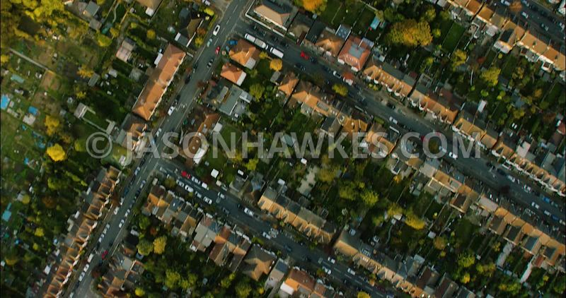 London Aerial Footage Residential area