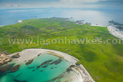 Aerial view of Tiree, Scotland