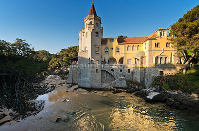The 19th century palace of the Condes de Castro Guimarães is nowadays a Museum and Library in Cascais. Portugal