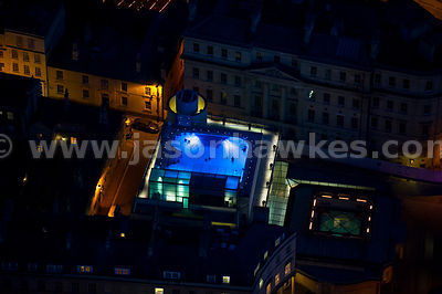 Aerial view of Thermae Bath Spa, Bath, England