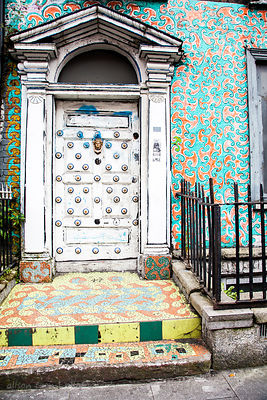 Decorative door, Dublin, Ireland