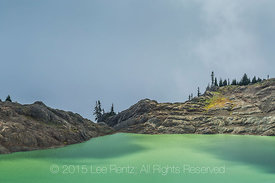 14-Goat Lake below Ptarmigan Ridge Trail on Morning of Unsettled Weather