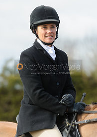 Anna Hanson at the meet - The Cottesmore Hunt at Ladywood Lodge 28/2