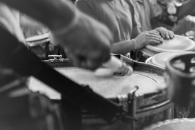 event photography of Sunday drum circle at Washington DC's Malcolm X Meridian Hill Park