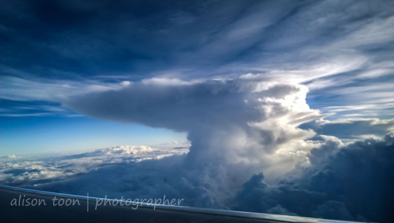 Flying through the thunderstorms