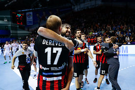 Players of Vardar during the Final Tournament - Final Four - SEHA - Gazprom league, Gold Medal Match Vardar - Telekom Veszprém, Belarus, 09.04.2017, Mandatory Credit ©SEHA/ Uroš Hočevar..