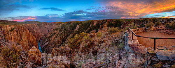 Fall Sunset at Pulpit Rock - Black Canyon of the Gunnison River National Park