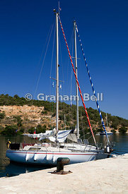 Yachts Atherinos Bay, Meganisi, Lefkas, Ionian Islands, Greece.