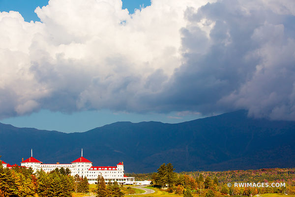 MOUNT WASHINGTON HOTEL AT SUNSET WHITE MOUNTAINS NEW HAMPSHIRE
