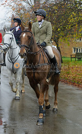 Jodie Parr arriving at the meet in Lyddington