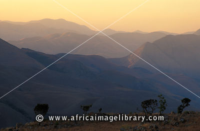 mountain scenery at dusk, Malolotja Nature Reserve , Swaziland