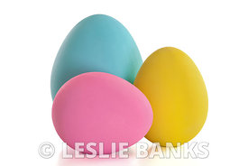 Colorful craft Easter eggs