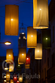 Christmas lights in Manlleu