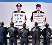 Southwest Airlines Pilots  upset over having no contract protest outside Love Field in Dallas, TX, USA (Brian Humek February 3,2016)