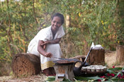Coffee ceremony, Aregash Lodge, Yirgalem, Ethiopia