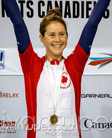 Junior Women's Individual Pursuit podium. 2015 Canadian Track Championships, OCtober 10, 2015