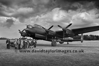 70 years on | Lancaster and 'crew' | East Kirkby | September 2014