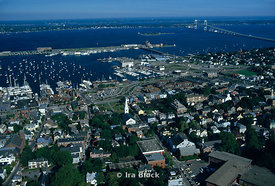 Town and harbor, Newport, Rhode Island.