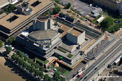 aerial photograph the Royal National Theatre, Southbank, London, Lambeth, London England UK SE1 9PX