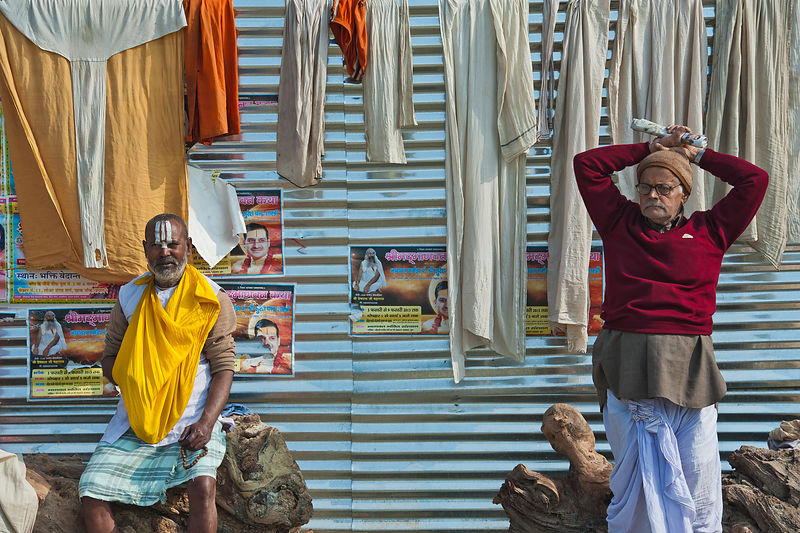 A common scene at the Kumbh Mela. This image was shot in Allahabad