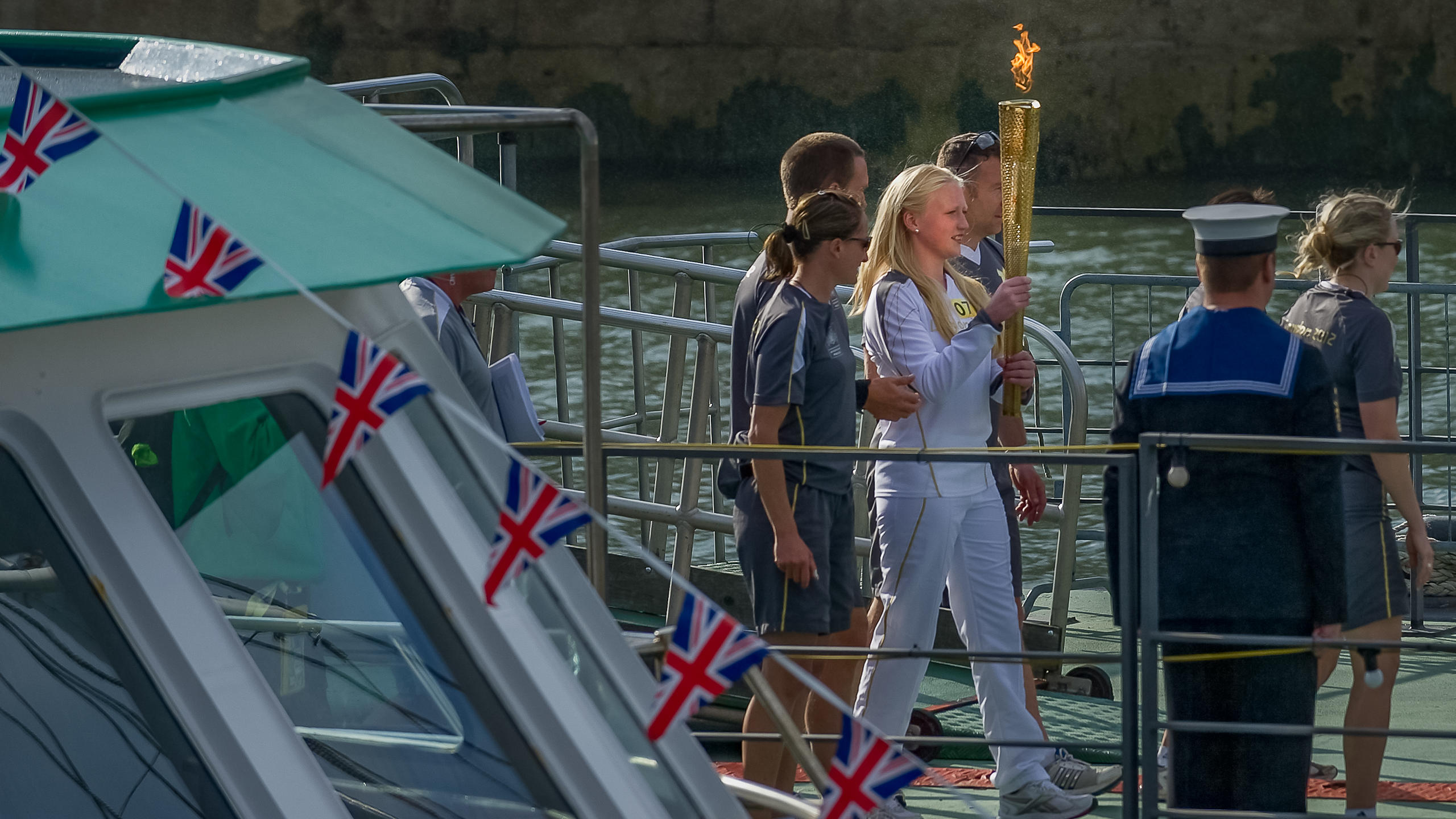 Olympic Torch Arrives in Portsmouth on Day 58 of the Olympic Relay.