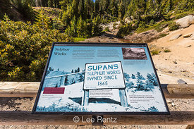 Interpretive Sign at Sulphur Works in Lassen Volcanic National Park
