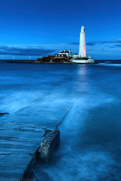 Blue Hour at St Mary's Lighthouse