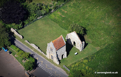 aerial photograph of Burnham Norton Friary,  Norfolk England UK