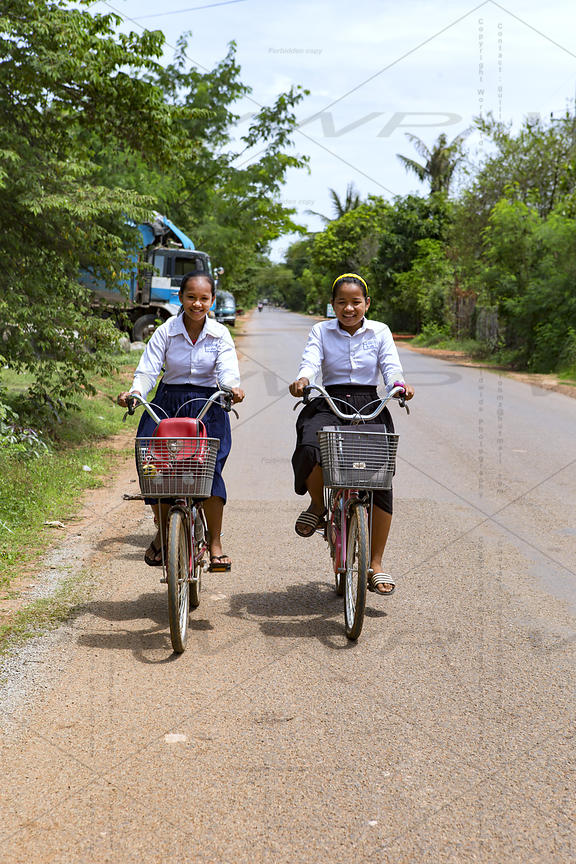 on the road of Cambodia