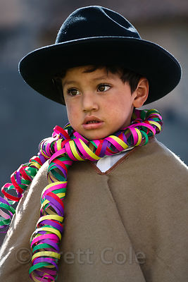 Peruvian boy dressed for Cusco Week festivities, Cusco, Peru
