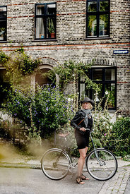 Danish woman biking in Copenhagen 4