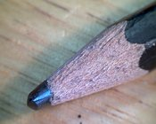 PENCIL: extreme close-up of a pencil tip #4