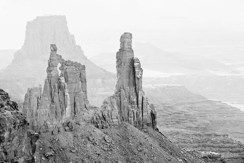 Canyonlands National Park Utah - Black and White Photos Stock Photos Canvas Framed Fine Art Prints