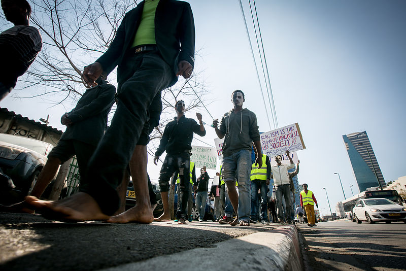 asylum seekers protest