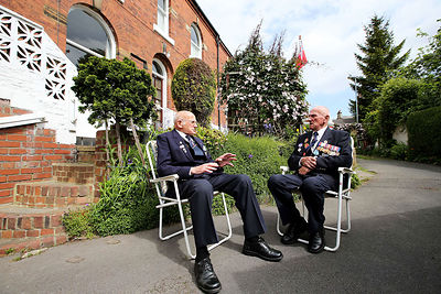 Second World War veterans of the Artic Convoy John Hirst and Cyril Chapman