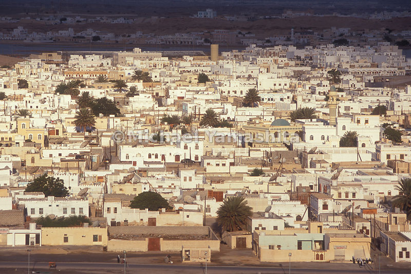 A view of the capital city Sur in Oman.