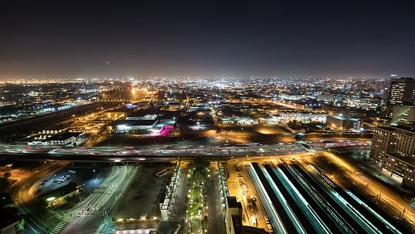 Bird's Eye: The Rail Yards & Bus Zones of L.A.'s Union Station