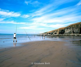 fishermen southerndown beach glamorgan heritage coast vale of glamorgan south wales