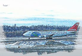 Illustration 747 taxiing