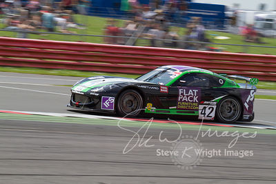 Century Motorsport Ginetta G55 GT4 in action at the Silverstone 500 - the third round of the British GT Championship 2014 - 1st June 2014